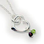 REAL gemstones Heart Necklace