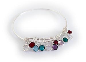 Flat Mother's Day Birthstone Bangle Bracelet™