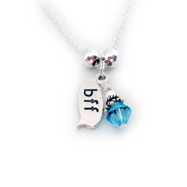BFF Necklace with Birthstone Crystal