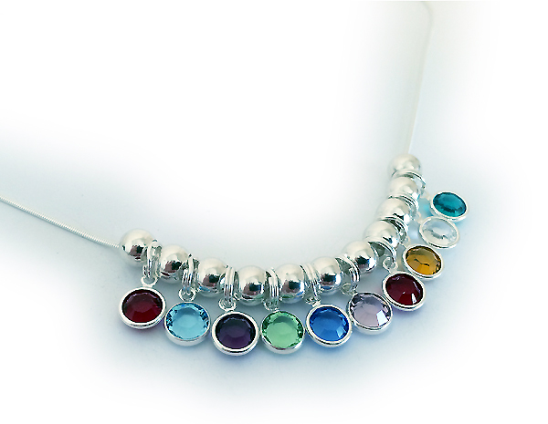 10 birthstone necklace by Swarovski