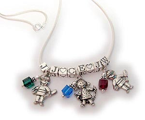 Kid Charms - Boy and Girl Charm Necklcaes