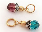 gold birthstone crystal dangles