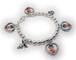 Picture Frame Charm Bracelet with Angels
