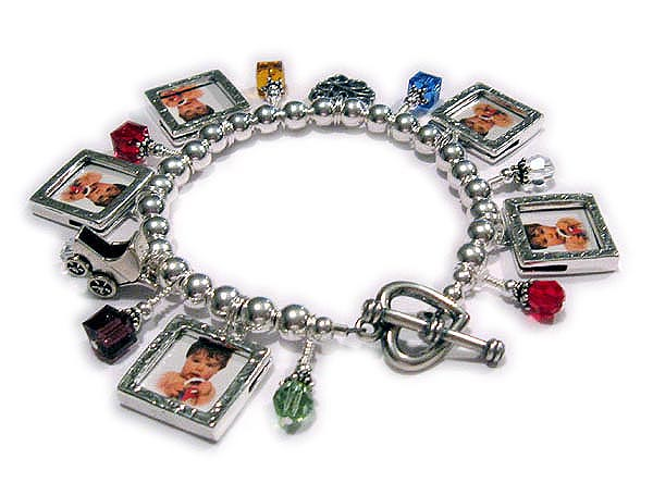 Picture Frame Charm Bracelet with picture frame charms - Charm ...