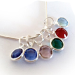 Birthstone Drop Necklaces - great personalized Christmas Gifts for Mommy or Grandma