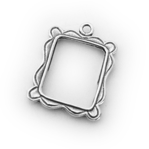 Sterling Silver Heart Picture Frame Charm