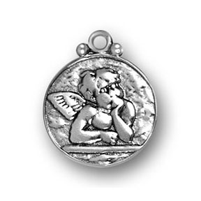 Sterling Silver Raphael Guardian Angel Charm