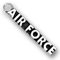 Sterling Silver Air Force Charm