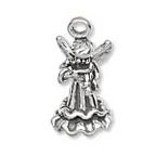 Sterling Silver Angel with Violin Charm