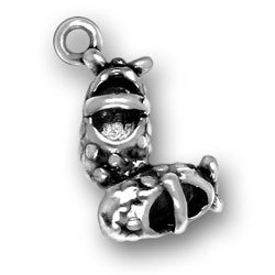 Sterling Silver Baby Girl Shoes Charm