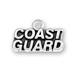 Sterling Silver Coast Guard Charm