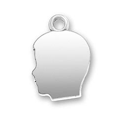 Sterling Silver Boy Profile Charm Charm