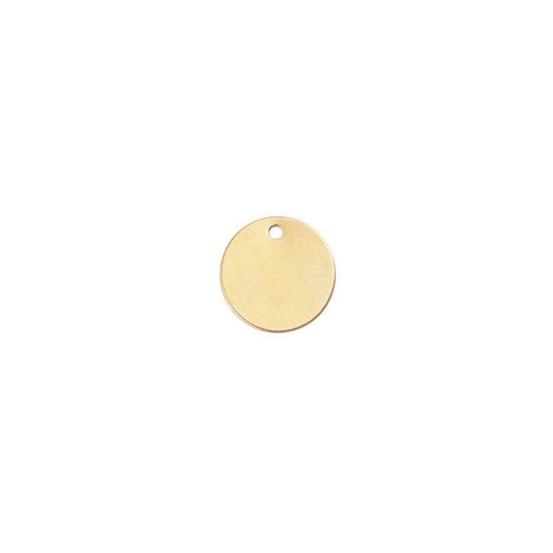 Gold Monogram/Initial Charm 14/20 Gold-Filled 9mm Round - 26ga