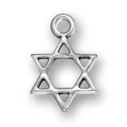 Sterling Silver Star of David Charm