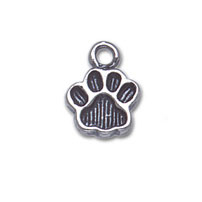 Sterling Silver Medium Paw Print Charm