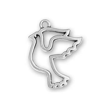 Sterling Silver Peace Dove Charm