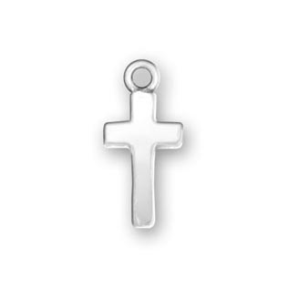 Sterling Silver Simple Cross Charm
