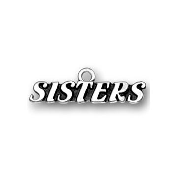Sterling Silver Sisters Charm
