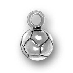 Sterling Silver Soccor Ball Charm
