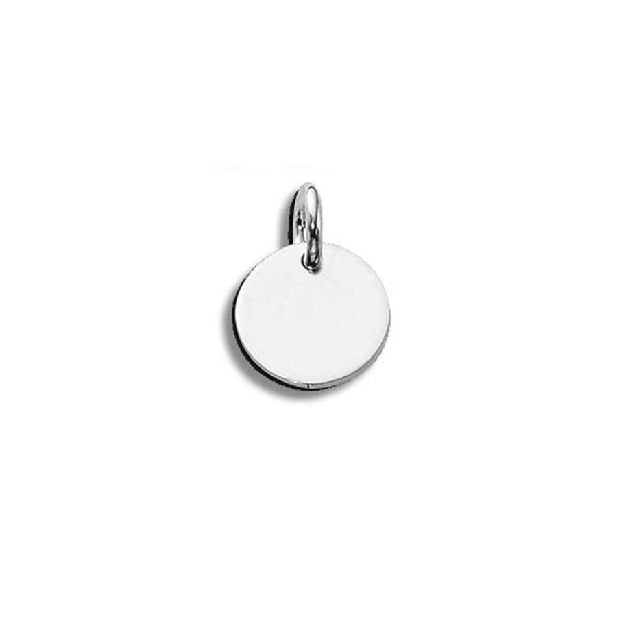 Monogram/Initial Charm  .925 Sterling Silver 9mm Round - 20ga