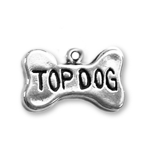 Sterling Silver Top Dog Charm