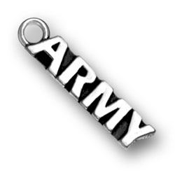 Sterling Silver US Army Charm