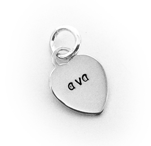 Ava Heart Engravable Charm