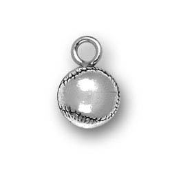 Sterling Silver BaseBall Charm
