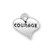 Courage Charm in a heart