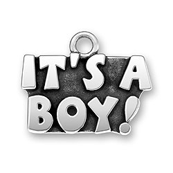 Sterling silver its a boy charm
