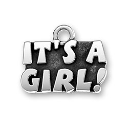 Sterling Silver Its a Girl Charm