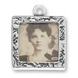 Textured square picture frame charm