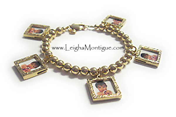 gold and sterling silver bracelet with childrens names