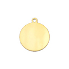 10mm Round Gold-Filled Disc Charm Made in: USA