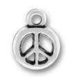 Sterling Silver Peace Sign Charms