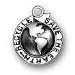 Sterling Silver Save the Earth Recycle Charms