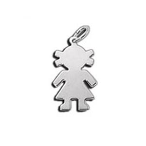Tiny Girl Charm - sterling silver