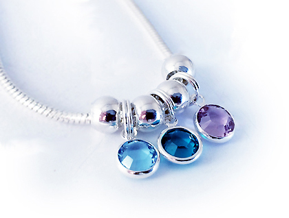 3 birthstone necklace by Swarovski