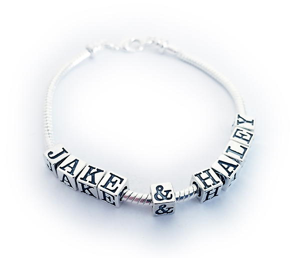 Pandora bracelet with kids names jake haley