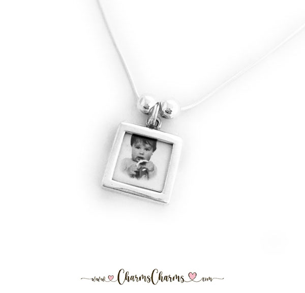 Photo Charm Necklace with 1 Photograph Charm