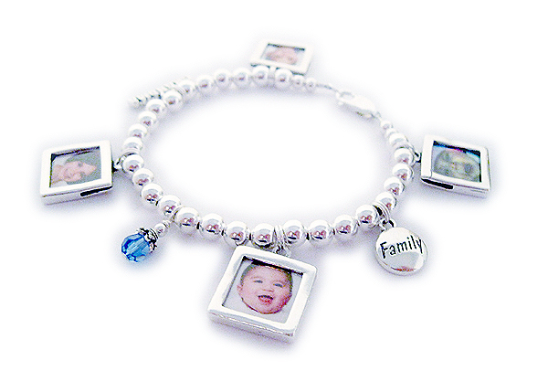 Picture Frame Charms - square or heart shaped - Picture frame charm ...