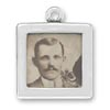 Smooth square picture frame charm