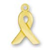 Gold Ribbon Charm