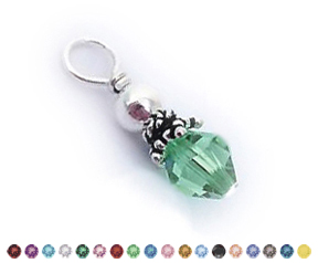 Round Swarovski Crystal Charm for existing charm necklace DBL-BN-N4