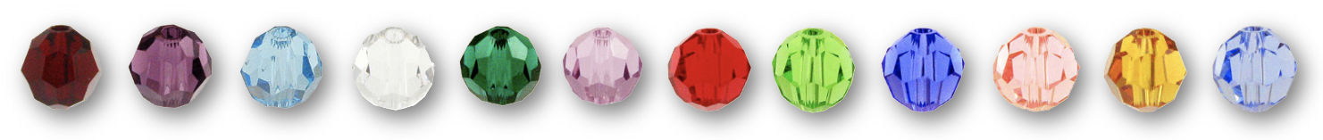 Swarovski Crystal Birthstone Color Options